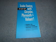 1964 CHRYSLER PLYMOUTH VALIANT TRAILER TOWING BROCHURE TIPS EQUIPMENT ORIGINAL
