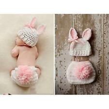 New Baby Infant Toddler Rabbit Shape Woolen Photography Clothing Prop 0-6 Months