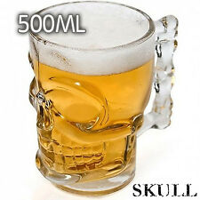 500ML Crystal Skull Head Vodka Shot Whiskey Home Wine Beer Glass Drinking Cup