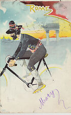 1902 used postcard of a man cycling in Rome by A Rossotti