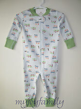 HANNA ANDERSSON Baby Organic Zip Sleeper Bunny Veggie Snacks 70 9-12 months NWT