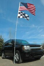 Portable Flagpole Tire Mount Aluminum Lightweight Tailgate Flag Pole Stand Kit