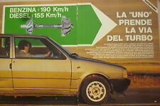 ARTICOLO  FIAT UNO  TURBO - - -  1984
