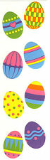 Mrs. Grossman's Stickers - Easter Eggs - Large Decorated Eggs - 4 Strips