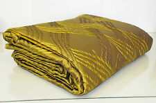 $4100 NEW FRETTE Luxury  Trapuntino SILK King Quilt BLANKET Gold Green Coverlet