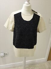 Comme Des Garcons Wool Patch Cotton Top BNWT Size S