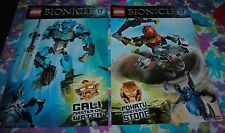 LEGO Bionicle GALI POHATU Master of Water Stone TWO Posters 2 Sided NYCC 2014