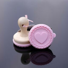 Heart Cookie Stamp - Wooden Handle with Silicone