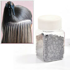 Silicone Lined Links Beads Fit For Use With Human Or Synthetic Hair Extensions
