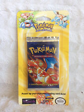 One (1) Sealed Pokemon Base Set Blister Pack MINT Fresh From Case Charizard Art
