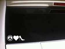 "Peace Love Heels Car Decal Vinyl Sticker 7"" *C22* high heels women shoes laptop"