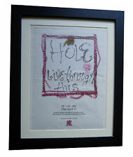 HOLE+COURTNEY LOVE+ORIGINAL+LIVE THROUGH+POSTER+AD+FRAMED+1994+FAST GLOBAL SHIP