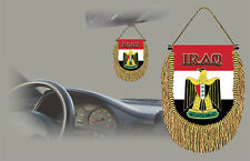 IRAQ REAR VIEW MIRROR WORLD FLAG CAR BANNER PENNANT