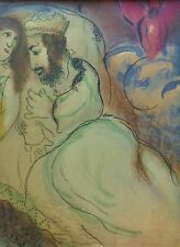 "MARC CHAGALL BIBLE ""Sara and Abimelech"" HAND NUMBERED LITHOGRAPH M239"