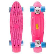Pink Penny Style Cruiser Board 22 inch Retro Plastic Skateboard Complete