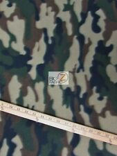 "CAMO PRINT POLAR FLEECE FABRIC - Army - 60"" WIDTH SOLD BY THE YARD - 214"