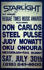 DON CARLOS/STEEL PULSE Reggae Times Music Awards Concert Poster 1988 BOB MARLEY