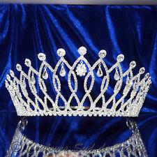 """Bijou de tête couronne miss mariage diadème argentée cristal clair """"COLLECTOR"""""""