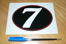 Number 7 Retro Race Number - large