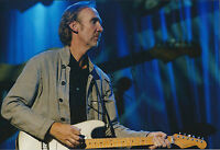 Mike RUTHERFORD SIGNED Autograph 12x8 Photo AFTAL COA GENESIS Genuine Guitar