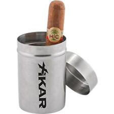 XIKAR Ash Can - Silver Stainless Steel Cigar Car Truck Ashtray - New