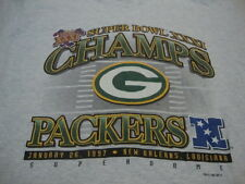 Vintage NFL Green Bay Packers Football Fan 1997 Super Bowl Champions T Shirt XL
