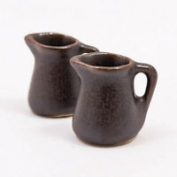 22mm Vase Water Milk Jug Jar Dollhouse Miniature Ceramic Food Supply Deco A1184