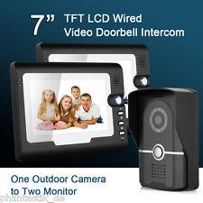 """7"""" TFT LCD Videosprechanlage IR CCTV Kamera Monitor Gegensprechanlage Türklingel"""