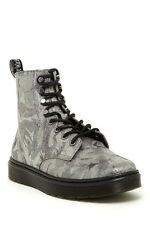 NEW Dr. Martens Disc Silver Metallic Leather Boots, Women Size 10 (8 UK) $165
