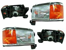 New Headlight PAIR FOR 1987 1988 1989 1990 1991 Ford F150 F250 F350 Bronco
