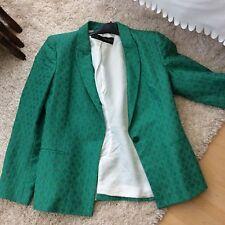 Zara Green Jacket Blazer Size Xl