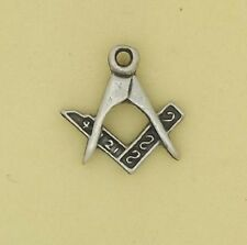 English Pewter Handcrafted Masonic Set Square and Compass Lapel or Tie Pin 20794