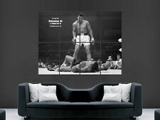 Muhammed Ali Sonny Liston Boxe Art Poster Mural Géant Grand d'impression photo