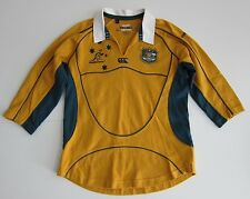 Wallabies Rugby Union Australia Green Yellow Embroidered Rugby Shirt Youth 12