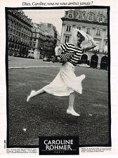 PUBLICITE ADVERTISING 084  1988  CAROLINE ROHMER  pret à porter mode