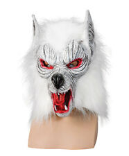 Rubber wolf head mask arctic werewolf costume were wolf cosplay LARP