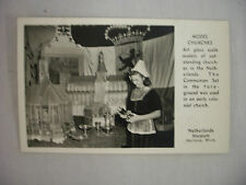 VINTAGE RPPC MODEL CHURCHES AT NETHERLANDS MUSEUM IN HOLLAND MICHIGAN UNUSED
