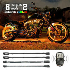 XKGLOW 8 pcs 7 Color Accent Lighting Kit for your Motorcycle Snowmobile ATV UTV