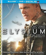 Elysium (Blu-Ray / DVD / UltraViolet, 2 Disc Set) - NEW!!