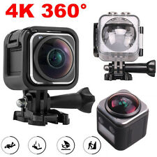 360 Degree Panoramic Camera 16MP 4K 30fps 3D VR Action Sports Cam Mini DV Player