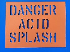 Land Rover FFR Military Vehicle Stencil Danger Acid Splash