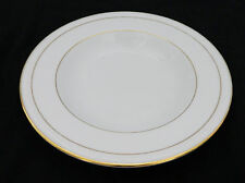 Noritake White Scapes Lockleigh Rim Soup / Salad Bowl 4061 White w Gold Edging