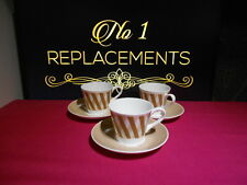 3 x Royal Tuscan Counterpoint Coffee Cups and Saucers