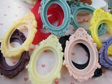 10pcs Mixed colors Victorian Resin frame cameo setting flatback cabochon 30x40mm
