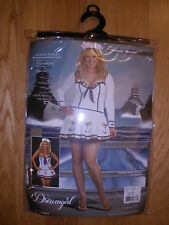 NEW WOMENS 3PC SEXY MAKIN WAVES SAILOR GIRL HALLOWEEN COSTUME PLUS SIZE 1X/2X
