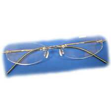 +2.5 Diopter Eschenbach Rimless Reading Glasses - Gold Oval
