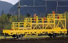 Kibri 26262 H0 Niederbordwagen mit Arbeitsbühne GleisBau, Fertigmodell