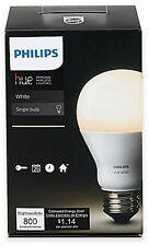 Philips Hue White A19 Single Dimmable LED Bulb Soft Light SmartPhone Control NEW