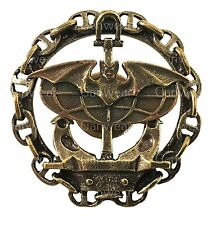 Russian Navy Spetsnaz Bat & Globus Military Uniform Badge Brass Screwback