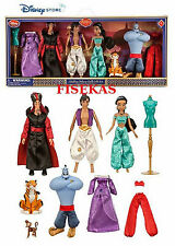 "Disney Store Aladdin Deluxe Doll Gift Set 4 Dolls 12"" Rajah Abu Dress NEW 2015"